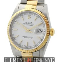 Rolex Datejust Steel & Yellow Gold 36mm White Index Dial P...