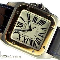 Cartier Santos 100 Medium Rose Gold Steel