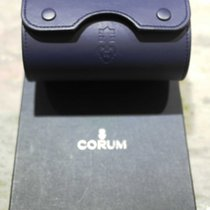 Corum vintage watch box leather blu