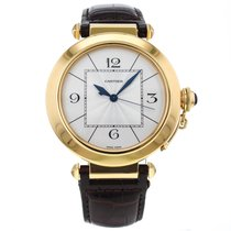 Cartier Pasha 42mm 18k Yellow Gold Automatic Wrist Watch For Men
