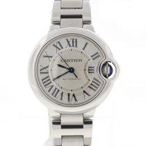 Cartier Ballon Bleu 33MM Silver Roman Auto Ladies Watch W6920071