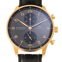 IWC Portuguese 18k Rose Gold Dark Grey Automatic IW371482