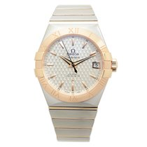 Omega Constellation 18k Rose Gold And Steel Silver Automatic...
