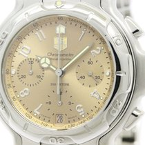 TAG Heuer Polished Tag Heuer 6000 Chronograph Steel Automatic...