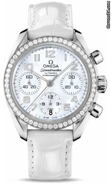 Omega Speedmaster Automatic Chronometer Diamond Bezel