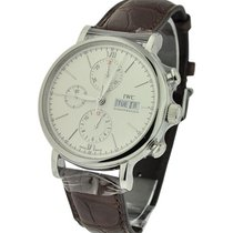 IWC IW391007 Portofino Chronograph - Steel on Dark Brown...