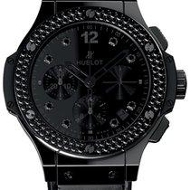 Hublot Big Bang All Black Ceramic Diamonds Men`s Watch