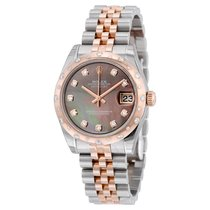 Rolex Oyster Perpetual Datejust 31 Black Mother of Pearl Dial...