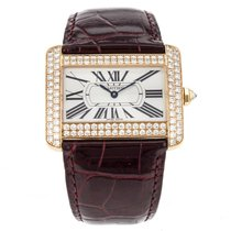 Cartier Tank Divan 18k Yellow Gold Men's Watch Factory...