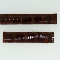 Cartier Lederband / Alligator / Braun - 18 / 17 Länge 115 / 85