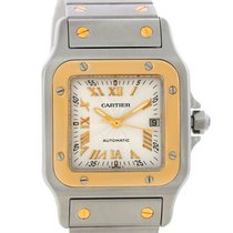 Cartier Santos Galbee Large Steel 18k Yellow Gold Watch W20058c4