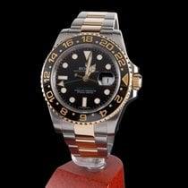 Ρολεξ (Rolex) gmt-master II steel and gold black dial ceramic