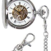 Charles-Hubert Mechanical Skeleton Pocket Watch - Stainless -...