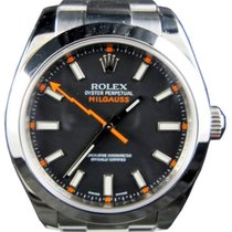 Rolex Milgauss 116400 Men's 40mm Black Stainless Steel Oyster