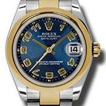 Rolex Datejust Ladies Midsize 178243-BLUCAO Blue Concentric...