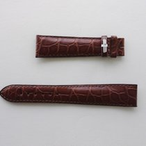 JeanRichard 20MM BROWN STRAP LEATHER CROC PATTERN