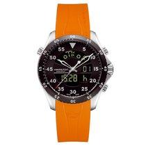 Hamilton Khaki Flight Timer Dual Display Chronograph Black Dial