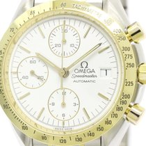Omega Polished Omega Speedmaster Date 18k Gold Steel Automatic...