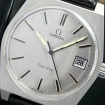 Omega Geneve Winding Quick Set Date Steel Mens Watch