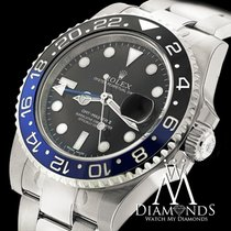 Rolex Gmt Master Ii 116710blnr Black Dial & Black And Blue...