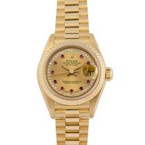 Rolex Datejust Ladies 18k, Diamond/Ruby String Dial, Ref:69178