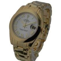 Rolex Unworn 81208 Mid Size Yellow Gold Masterpiece - Smooth...