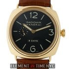 Panerai Radiomir Collection 18k Rose Gold 8 Days Black Dial...