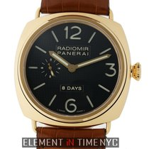 Panerai Radiomir Collection 18k Rose Gold 8 Days Black Dial 45mm