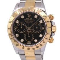 Rolex 18K Gold / SS 116523G, Original Diamond Index, New...