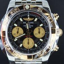 Breitling Chronomat 41mm Gold/Steel Black Dial, Full Set...