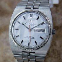 Omega Constellation Men Chronometer 18k White Gold Bezel Swiss...