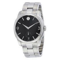 Movado LX Black Dial Stainless Steel Men's Watch