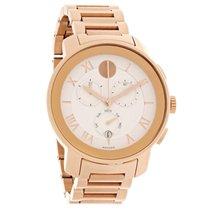 Movado Bold Mens Rose Gold Swiss Chronograph Quartz Watch 3600207