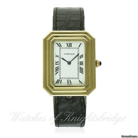 Cartier 18k Gold Watch Cartier 18k Solid Gold Cartier