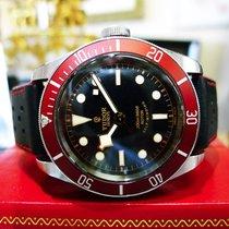 Tudor Black Bay Heritage Red Stainless Steel Ref: 79220 Swiss...