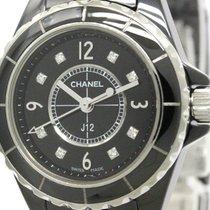Chanel Polished Chanel J12 Diamond Ceramic Quartz Ladies Watch...