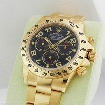 Rolex Daytona 116528 Yellow Gold Blue Arabic Dial NEW B&P