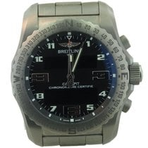 Breitling Cockpit Ref Eb5010 Men's Titanium Gmt Watch W/...