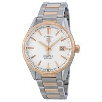 TAG Heuer Carrera Caliber 5 Silver Dial Stainless Steel 18kt...