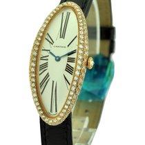 Cartier Baignoire Allongee Rose Gold with Custom Diamond Bezel...