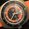 Tissot SIDERAL VINTAGE NEW OLD STOCK - ORANGE / GREEN