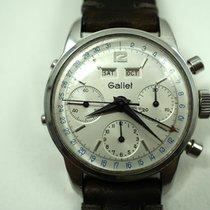 Gallet vintage Calendar Chronograph steel valjoux72c c.1960's