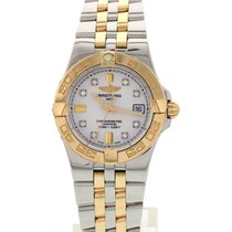Breitling Ladies Breitling Galactic SS / 18K YG Diamond Dial...
