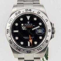 Rolex Explorer II  Steel Black Dial Bezel 42mm 216570 NEW