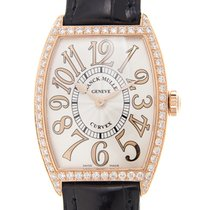 Franck Muller New  Cintree Curvex 18 K Rose Gold With Diamonds...