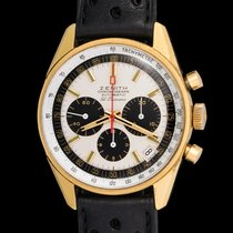 Zenith El Primero G381 Chronograph In 18k Yellow Gold