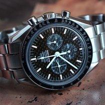 Omega Speedmaster Racing Chronograph Black Carbon Fiber Dial...
