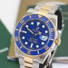 Rolex Submariner Ref 16613 M Serial NOS 18K Steel Blue