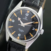 歐米茄 (Omega) 30mm Winding Black Radium Dial Steel Mens Watch