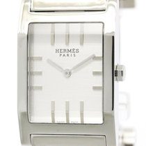Hermès Polished Hermes Tandem Steel Quartz Mens Watch Ta1.710...